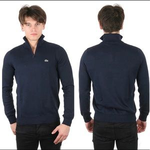Lacoste - Cotton Quarter- Zip Pull Over Sweater